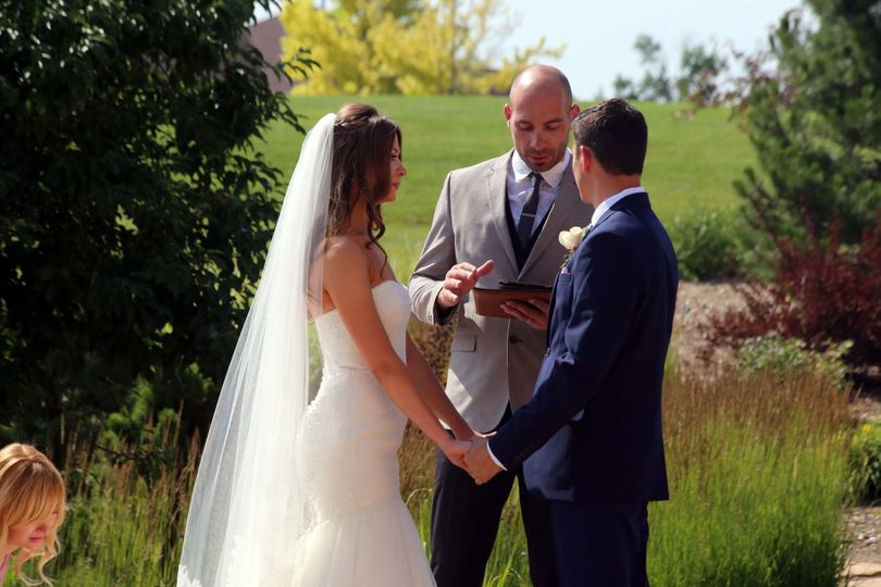 The ceremony outdoors