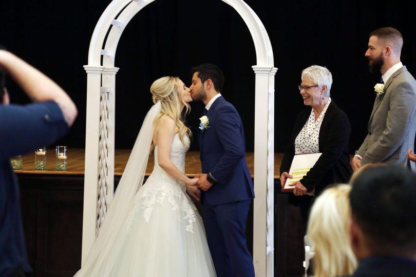 Indoor Ceremony-The Kiss