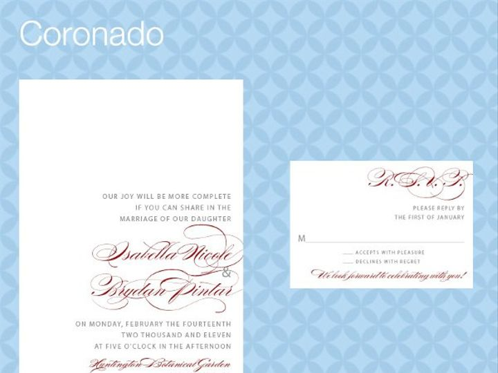 Tmx 1309839284386 CoronadoInviteRSVP La Jolla wedding invitation