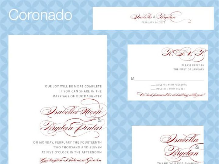 Tmx 1309839291542 CoronadoSuite La Jolla wedding invitation