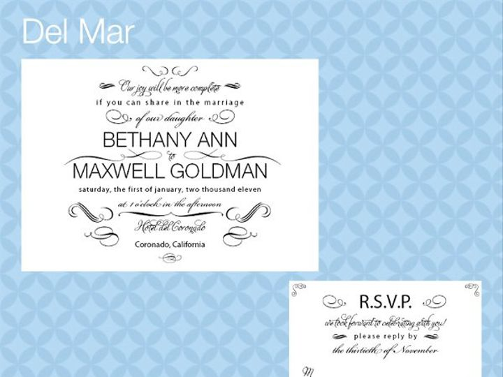 Tmx 1309839306167 DelMarInviteRSVP La Jolla wedding invitation