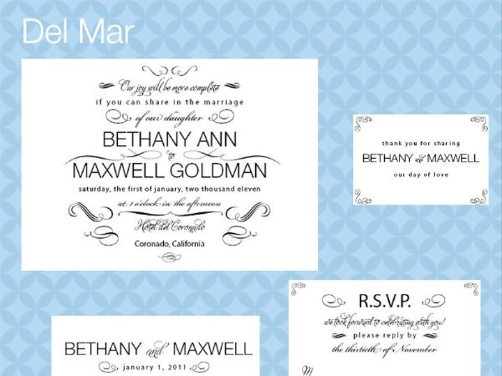 Tmx 1309839313088 DelMarSuite La Jolla wedding invitation