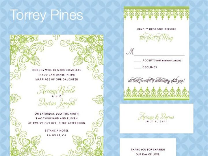 Tmx 1309839381322 TorreyPinesSuite La Jolla wedding invitation