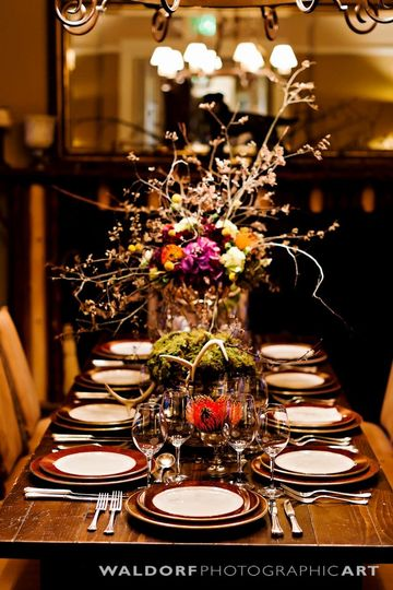 Fall Table for a Main Lodge Reception