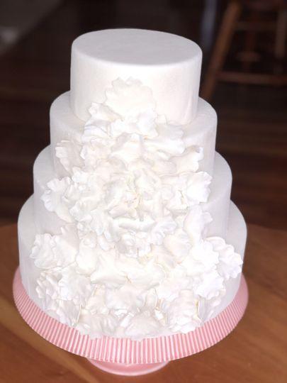 White designed cake