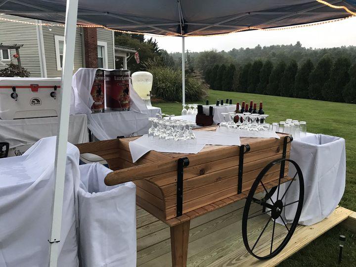 Outdoor beverage station