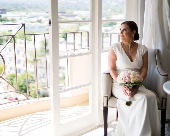 Bridal portrait of Amy