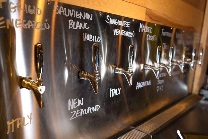 Draft beer & wine on tap!