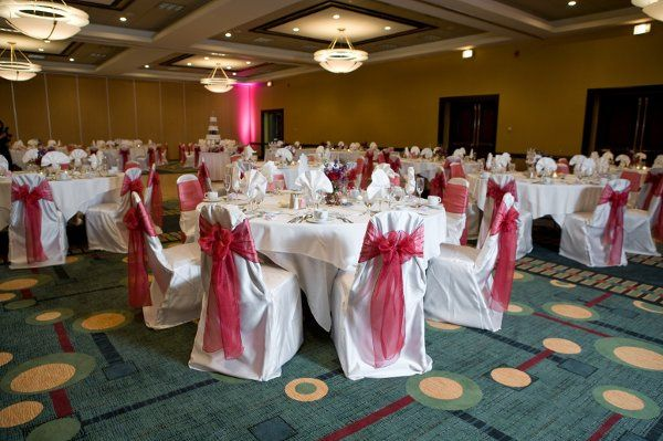 Interior view of the hotel Grand Ballroom. 5200 Square Feet and can accommodate up to 325 reception...
