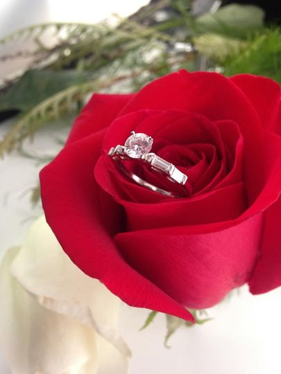 """This stunning diamond engagement ring is the feature of our """"How We Met"""" Photo Contest. Couples can..."""