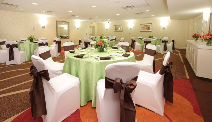 Our Forbes Ballroom can accommodate up to 120 guests with rounds of 10 people and a dance floor for...