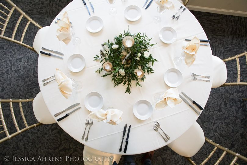 Round table for guests