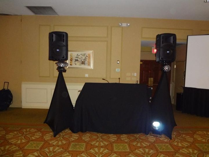 dj set up black
