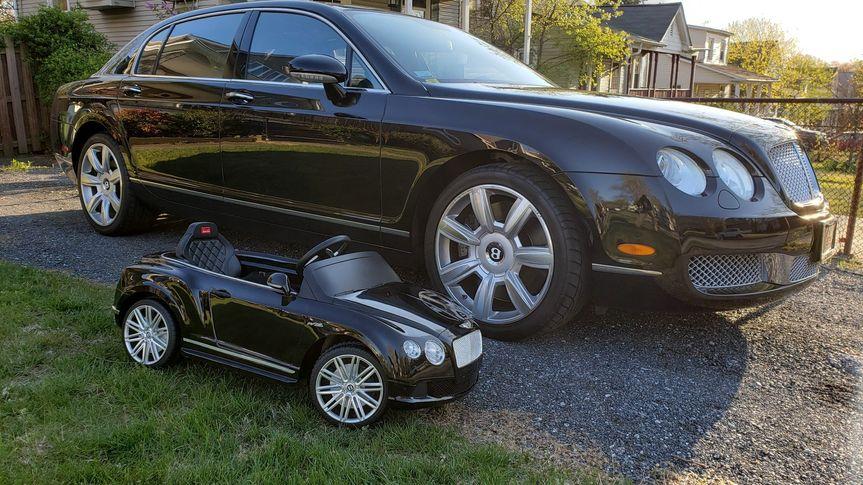 Mini Bentley for ring bearer