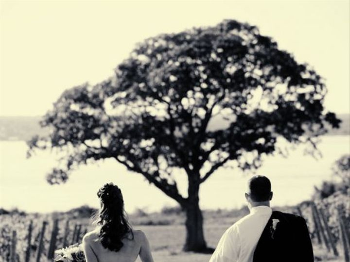 Tmx Bride Groom Walking Down Vineyard Lake Tree View 51 53563 Geneva, New York wedding venue