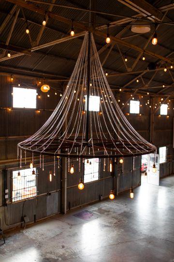 Vintage wheel chandelier