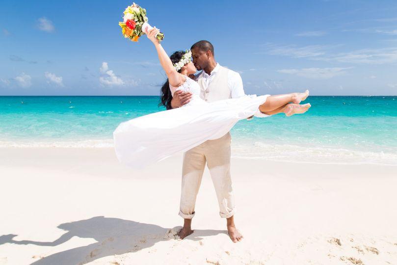 Couple on Cabbage Beach