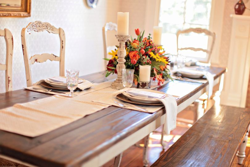 Our sun-drenched dining table