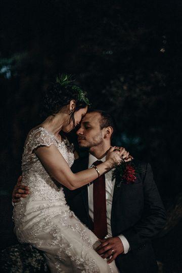 Nighttime wedding