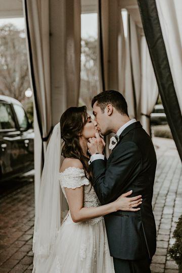Sharing a loving kiss