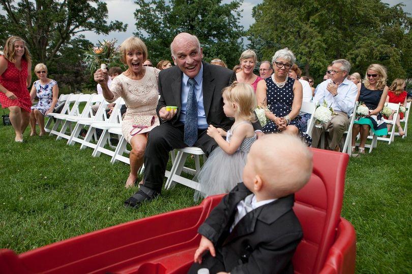 Boulder's Chautauqua Lawn wedding ceremony.