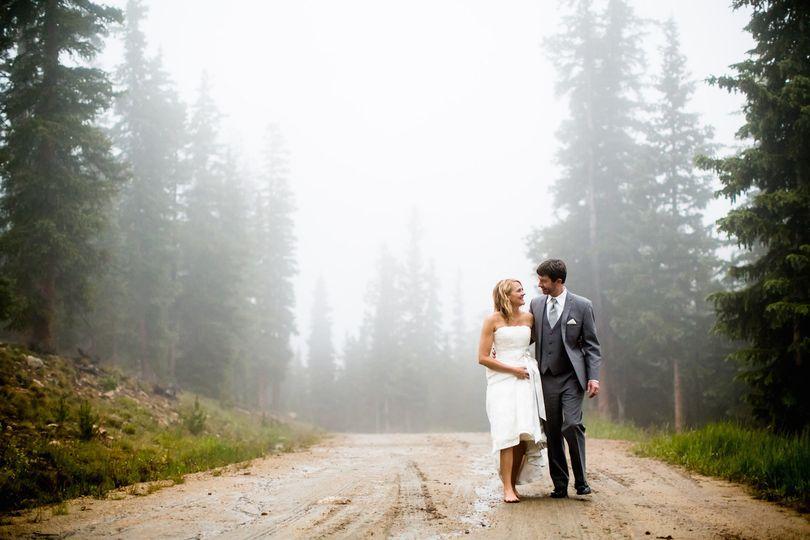 Keystone Alpenglow Stube wedding couple.