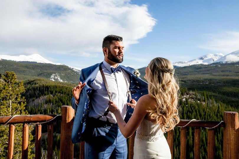 Lodge at Breck wedding couple.