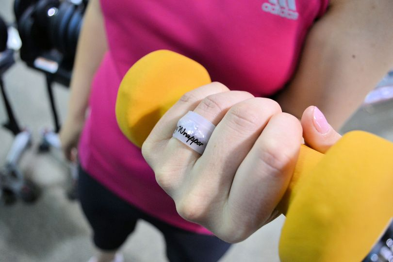 Wear Ring Wrapper when you work out to protect your ring from scratches and damage.