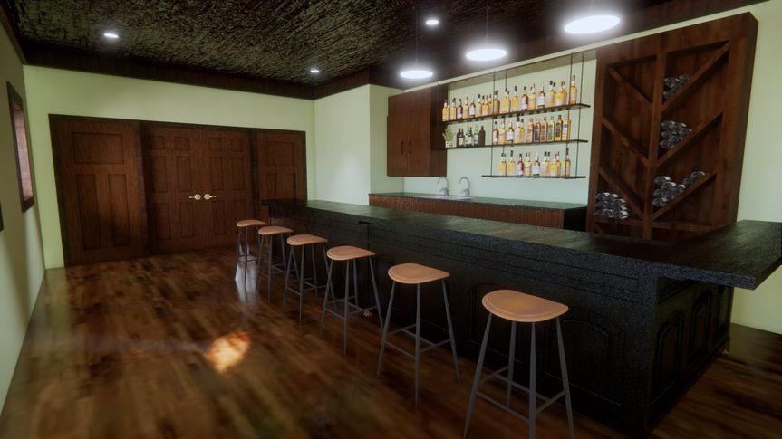 Lower level bar