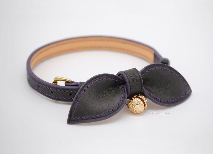 Custom, dapper cat collar