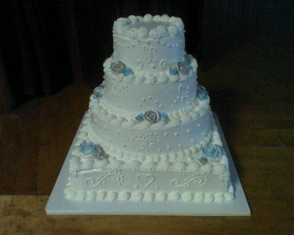 Tmx 1250859022046 BlueandSilverShimmer Philadelphia wedding cake