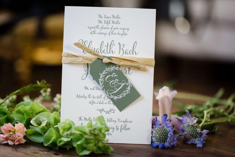 Dark green envelope tag