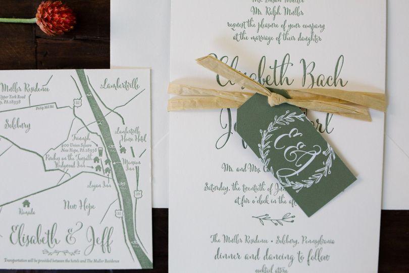 Cute and rustic invitation idea