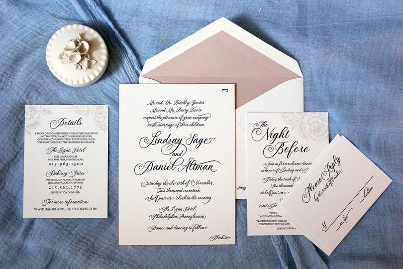 Simple white invitation