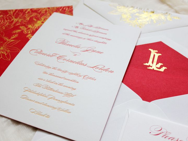 Tmx 1515701294 A06c4eb1263a6939 1515701292 Df40cf9064a4f6f7 1515701289341 15 IMG 5718new Philadelphia, Pennsylvania wedding invitation