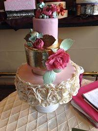 Tmx 1389518634322 Gold And Rose Ruffle Cak Anchorage wedding