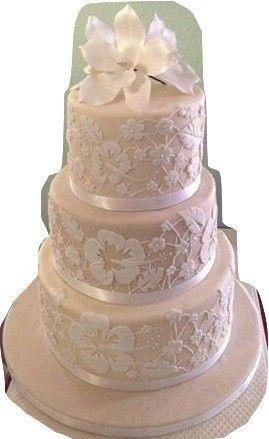 Tmx 1389518759216 Hawiian And Lace Wedding Cak Anchorage wedding