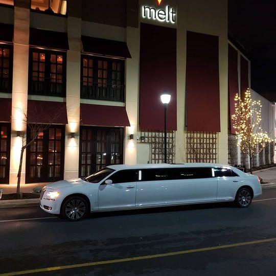 Beautiful white limo
