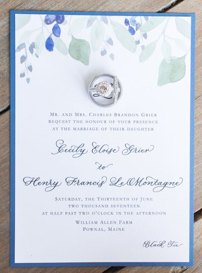 Combining calligraphy with type on your invitation really makes it pop!