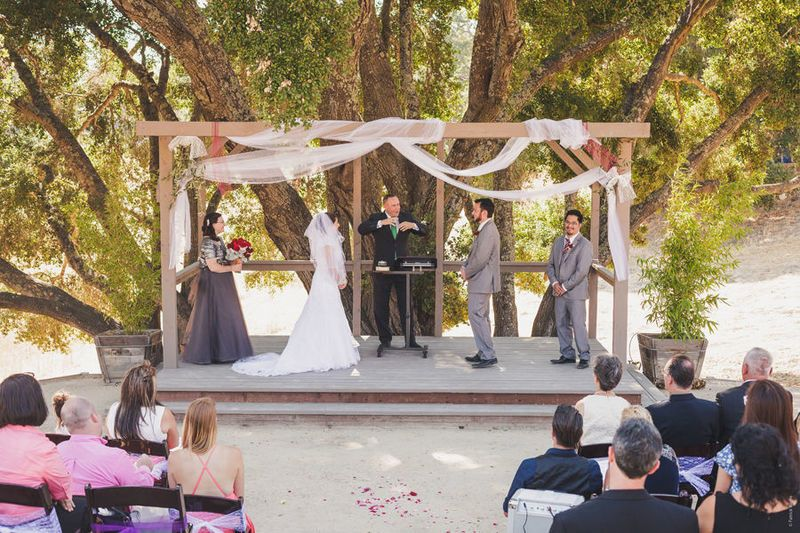 The outdoor ceremony