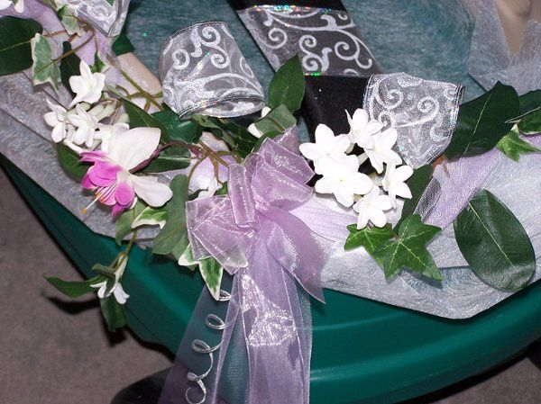 Decorated Wagon - This was for a tiny little flower girl.