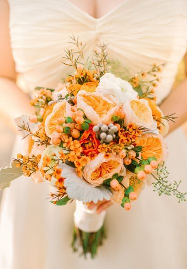 Warm toned bouquet