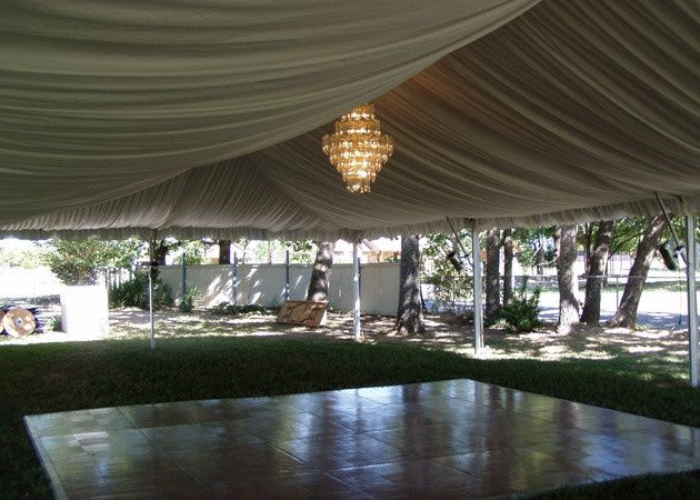 tents dance floor liner chandelier2