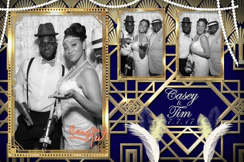 A gatsby themed wedding with touches given to us by the bride and groom.   3 Photos on a 4x6 print....