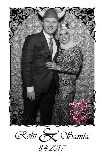Framed photo overlay.   Filter feature and signature feature for this couple!
