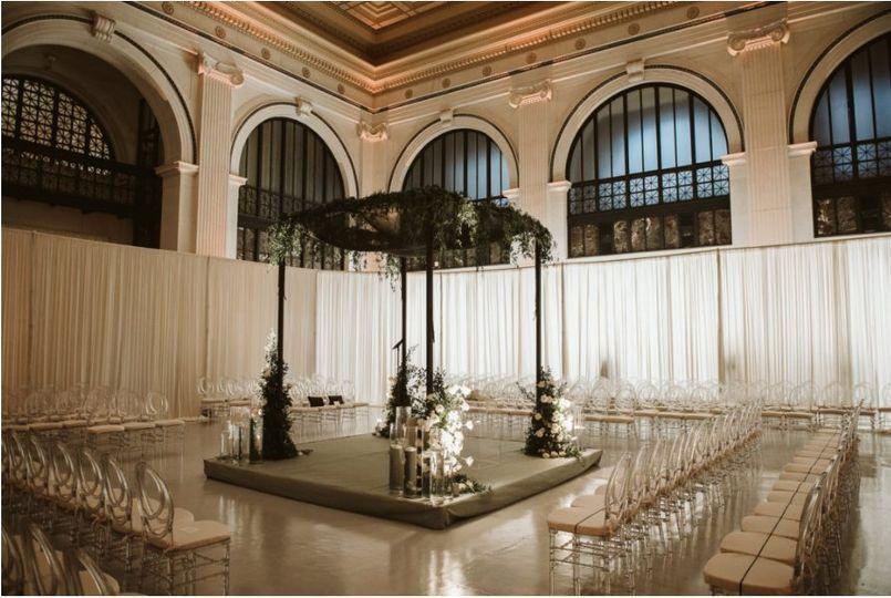 Romantic ceremony setup