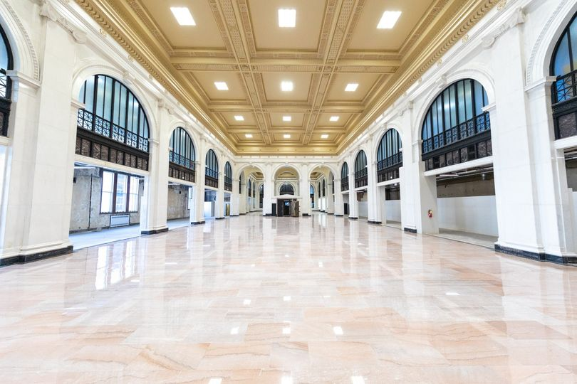 Marble detailing and gilded ceilings