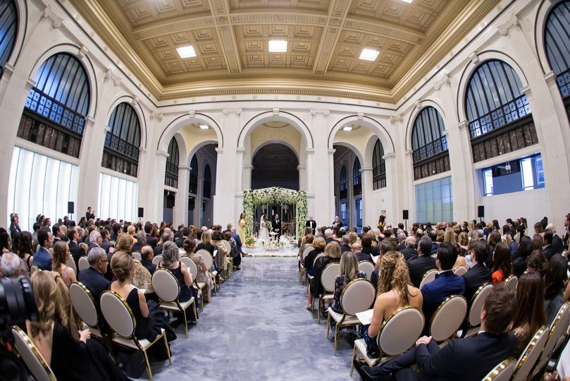 Ceremony setup in the hall
