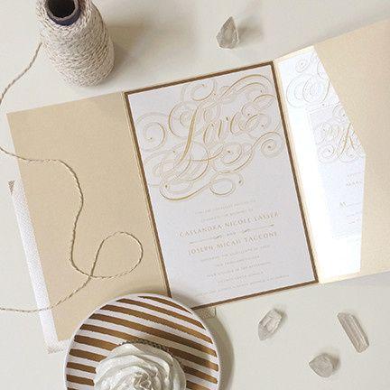 calligraphy crush wedding invitation