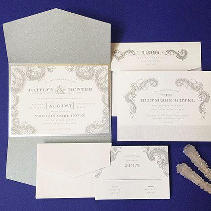 cirquenouveau wedding invitation